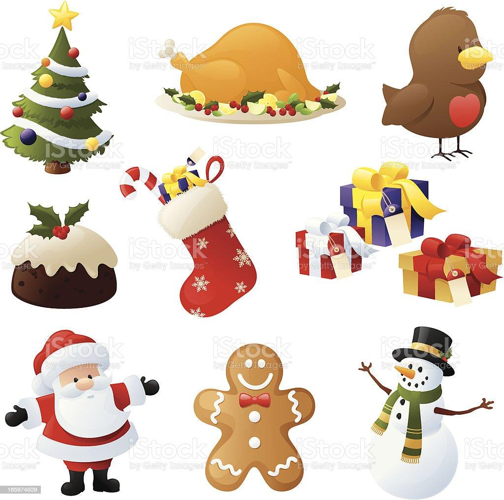 Christmas Cheer vector art illustration