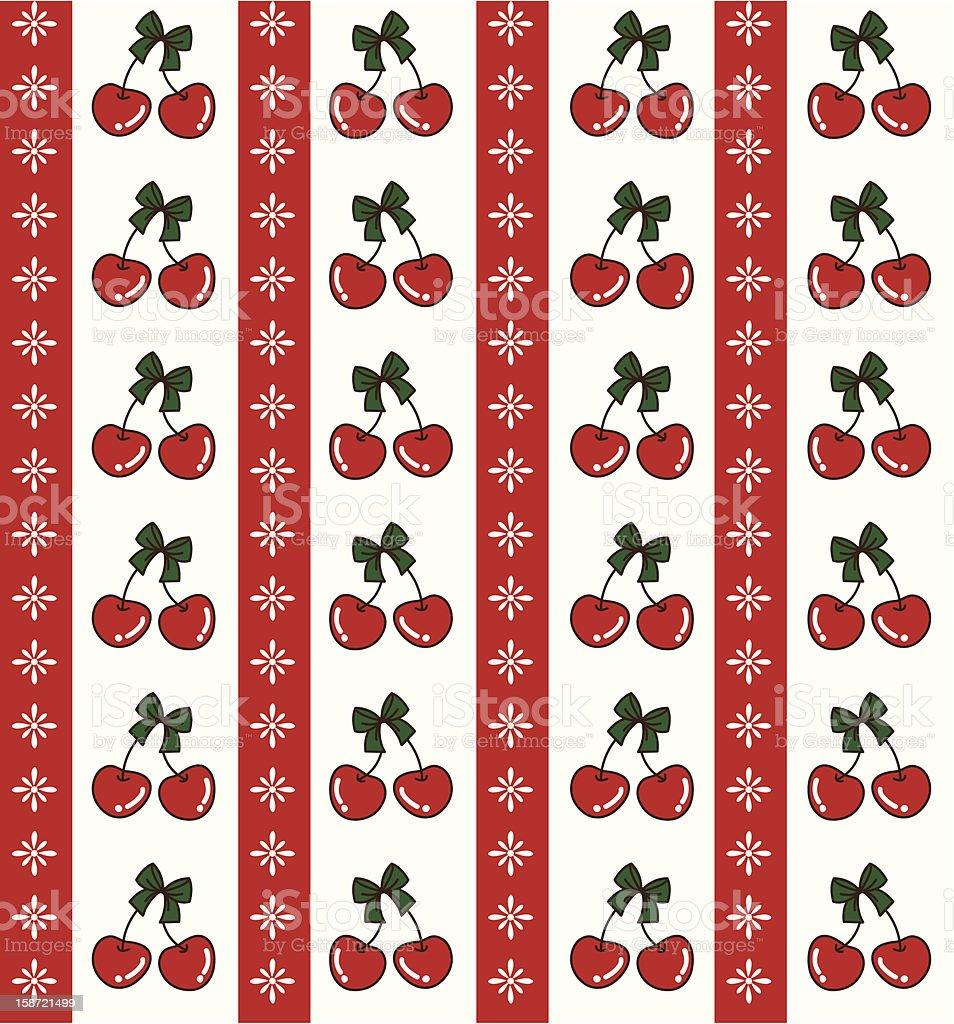 Christmas Cherry2 vector art illustration