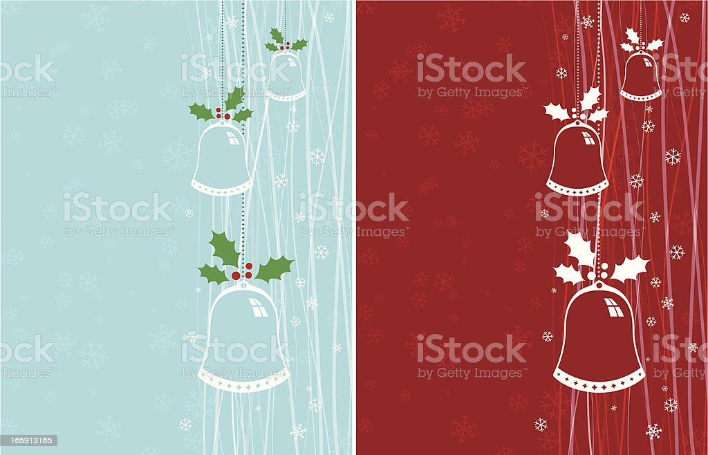 Christmas Chimes or Bells vector art illustration