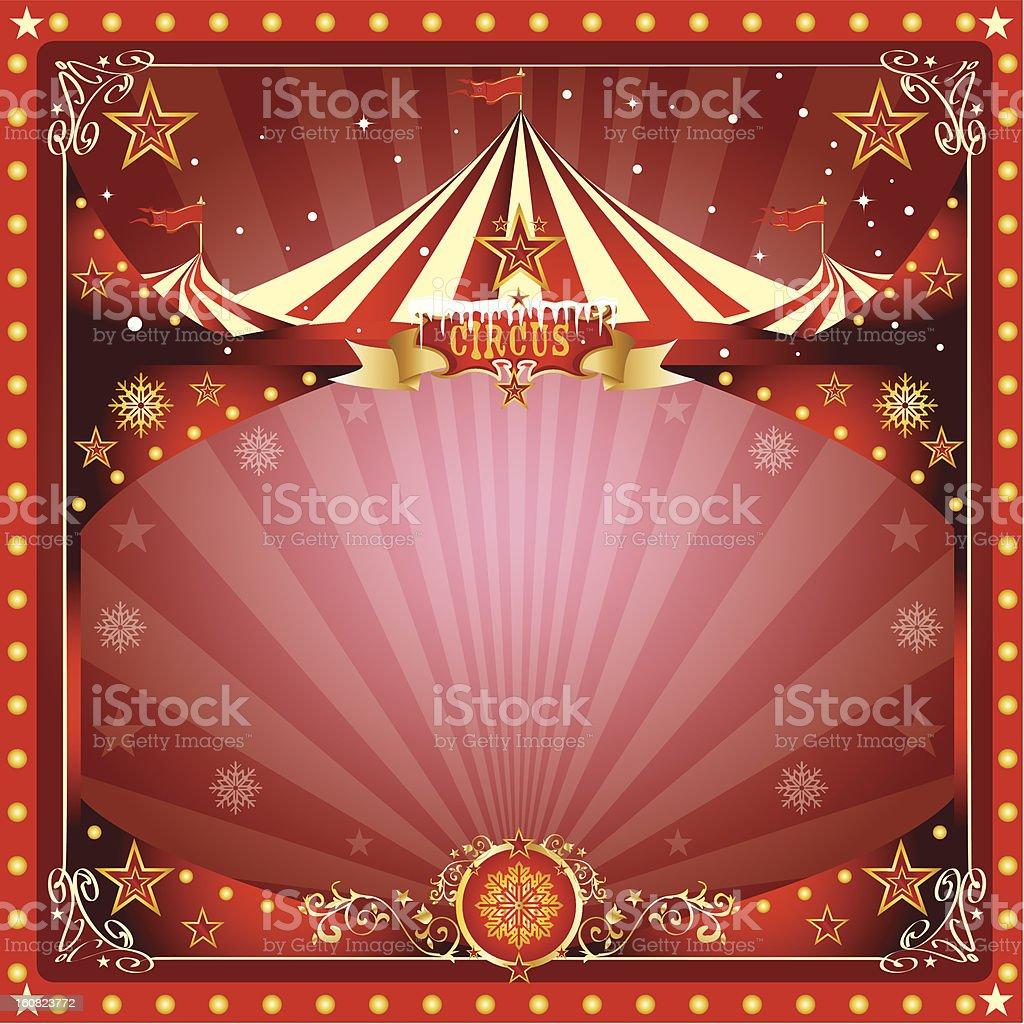 Christmas circus card stock photo