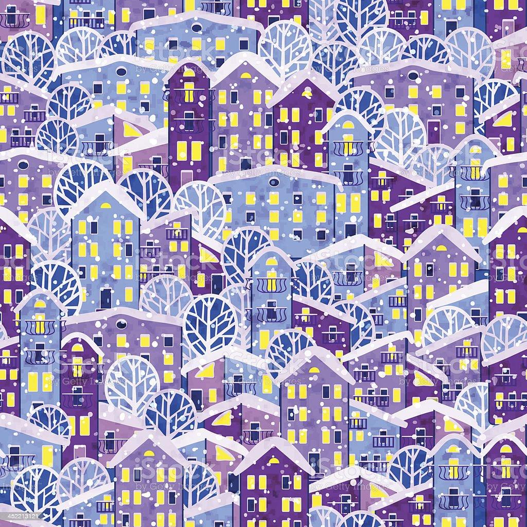christmas city royalty-free stock vector art