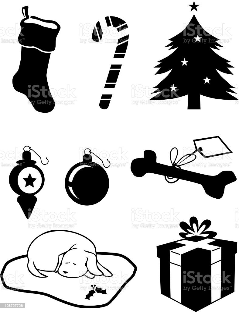 Christmas Clip Art Icons royalty-free stock vector art