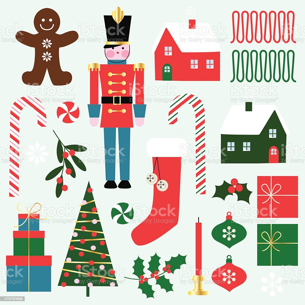 christmas clipart vector art illustration