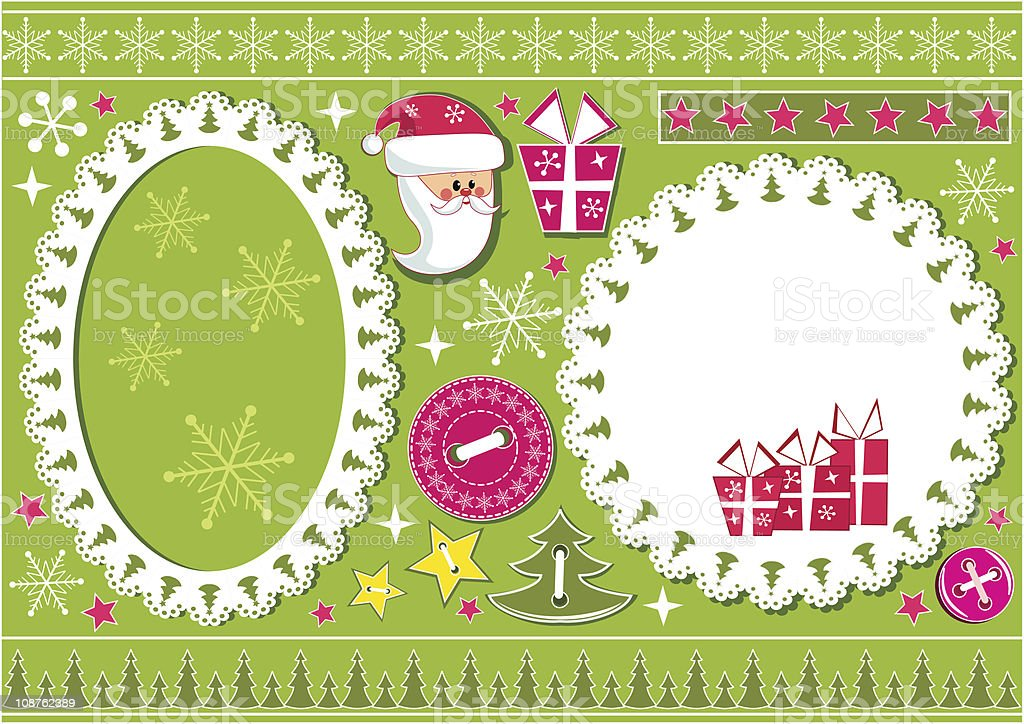 Christmas collection for scrapbook. royalty-free stock vector art