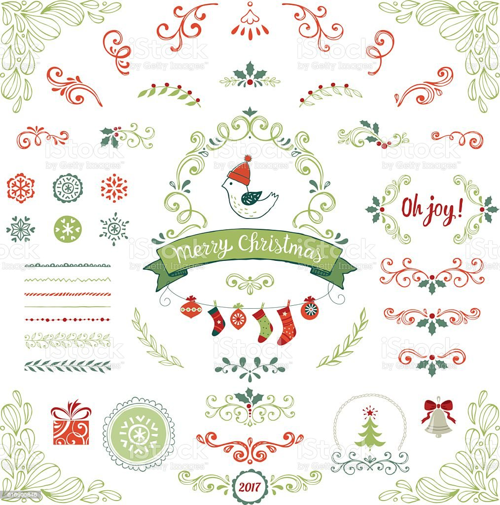 Christmas Collection vector art illustration