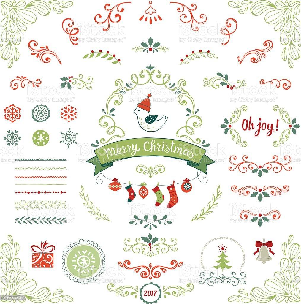 Christmas Collection vector art illustration