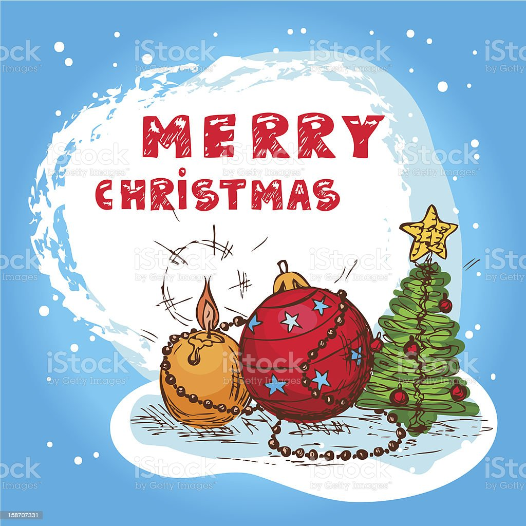 christmas colorful card royalty-free stock vector art