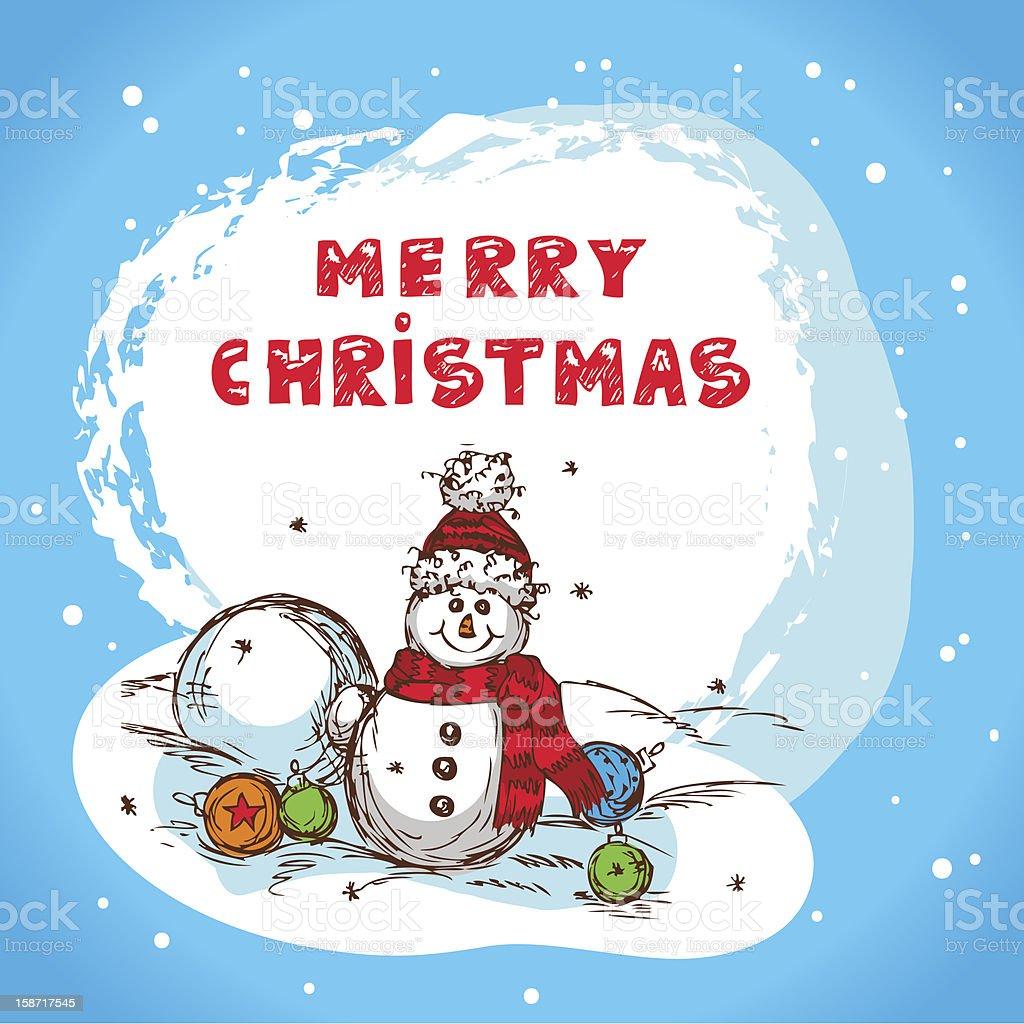 christmas colorful vector card royalty-free stock vector art