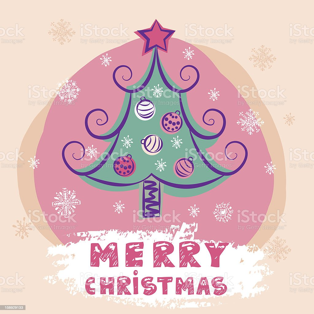 christmas colorful vector tree royalty-free stock vector art