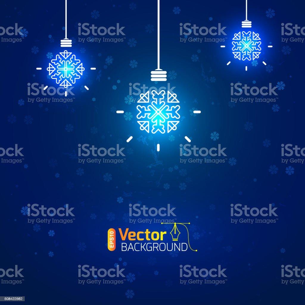 Christmas concept, background for business vector art illustration