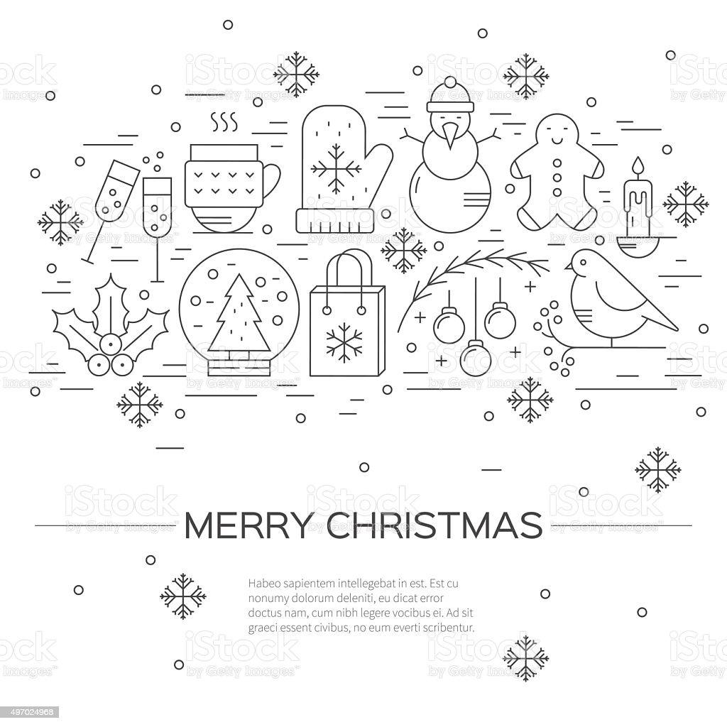 Christmas concept vector art illustration