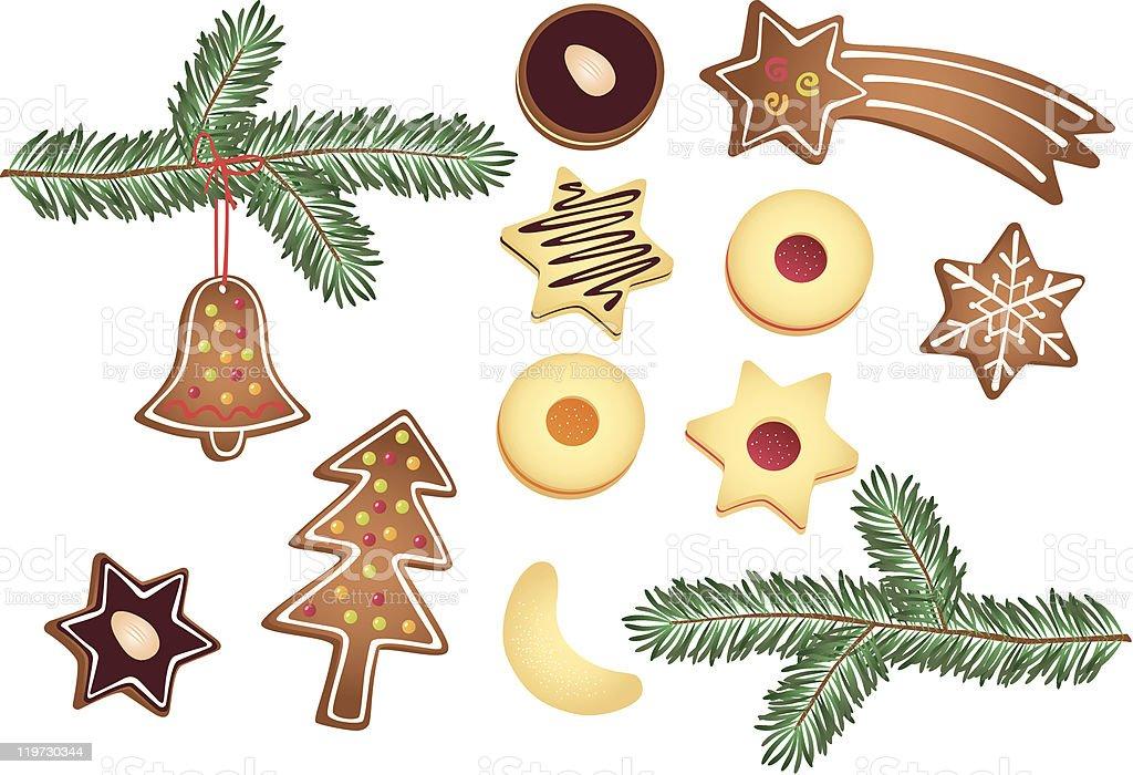 Christmas cookies royalty-free stock vector art