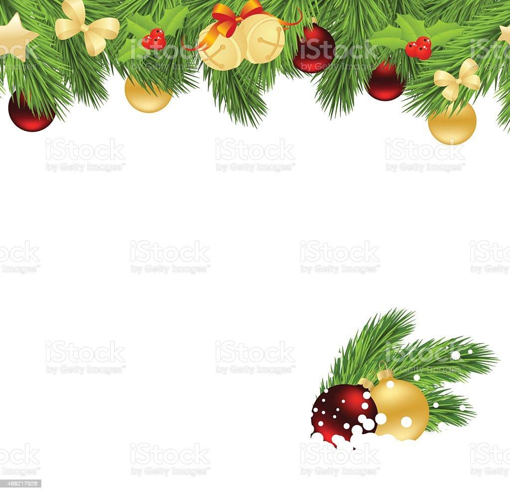 Рождество corner Сток Вектор Стоковая фотография