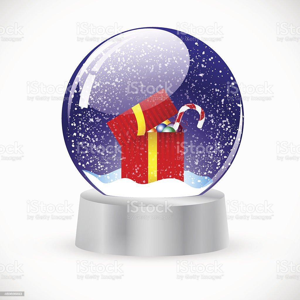 Christmas Crystal Snow Ball. Vector royalty-free stock vector art