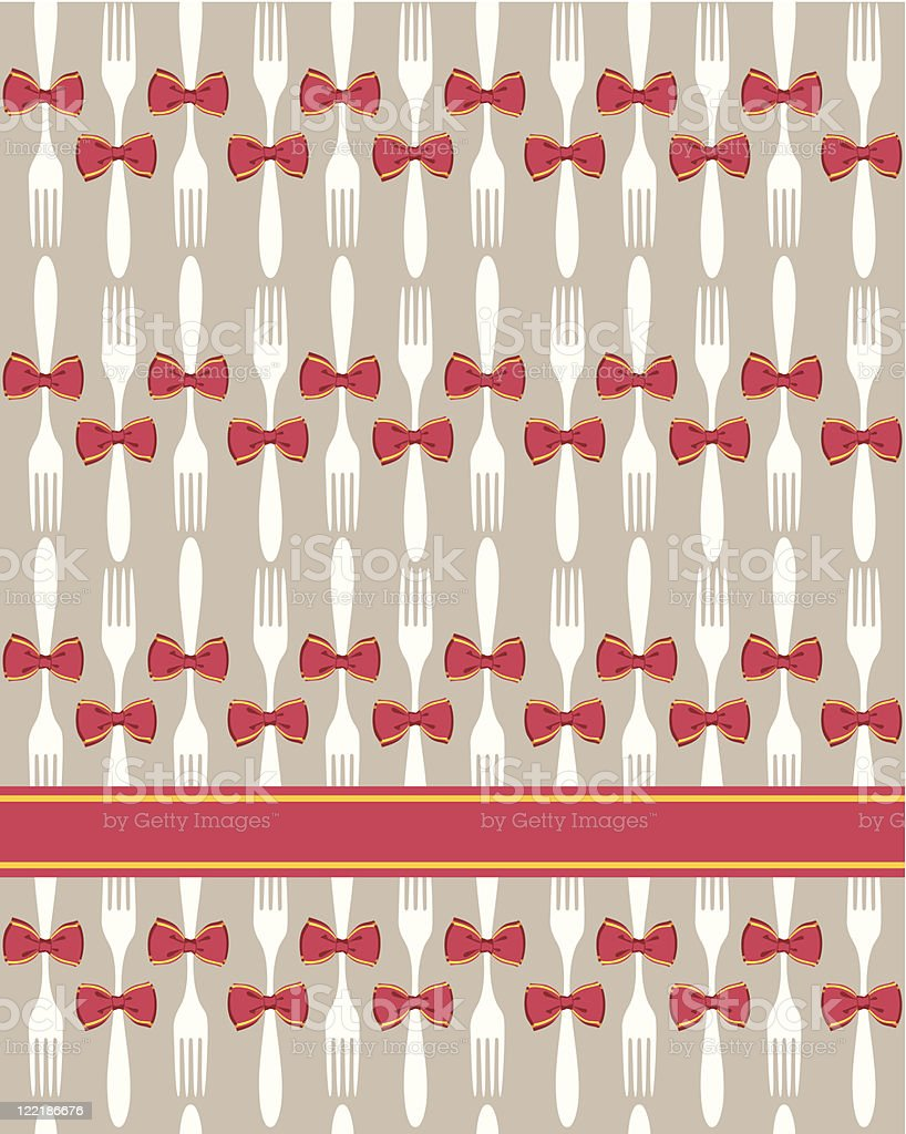 Christmas cutlery seamless pattern background royalty-free stock vector art
