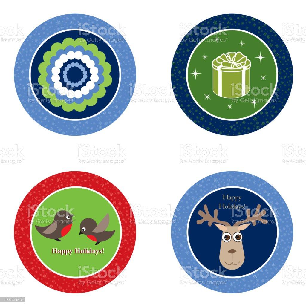 Christmas decor icon set. Ball vector collection. royalty-free stock vector art