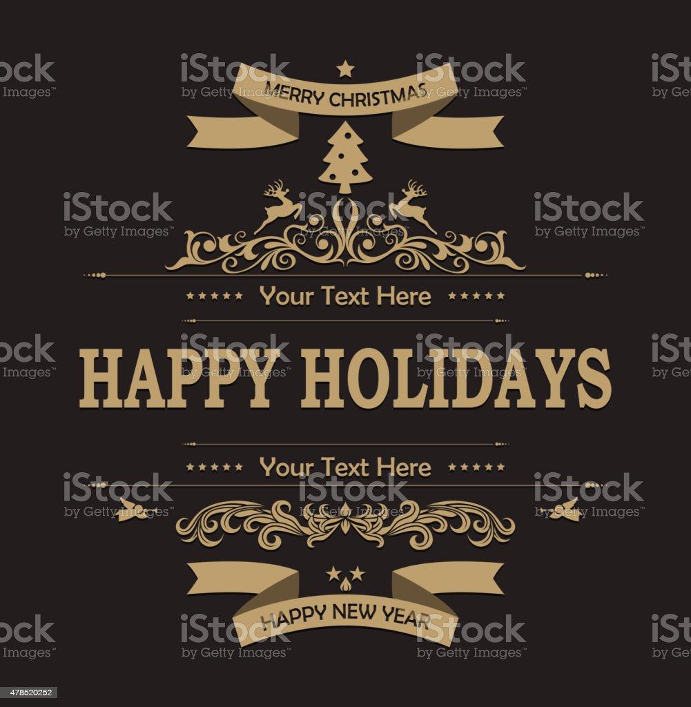Christmas decoration background vector art illustration