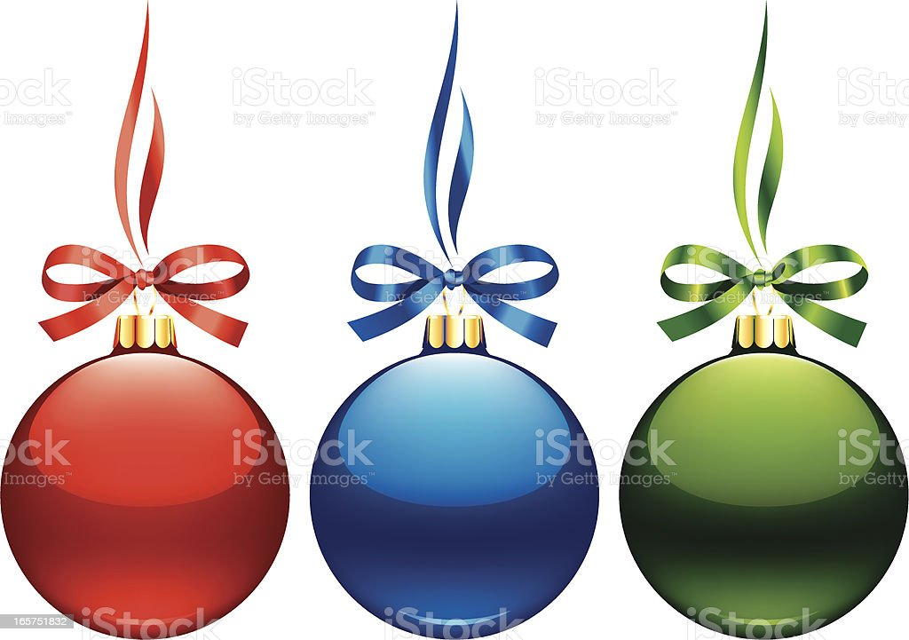 Christmas decoration baubles royalty-free stock vector art