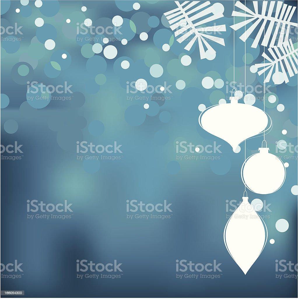 Christmas decoration blue royalty-free stock vector art