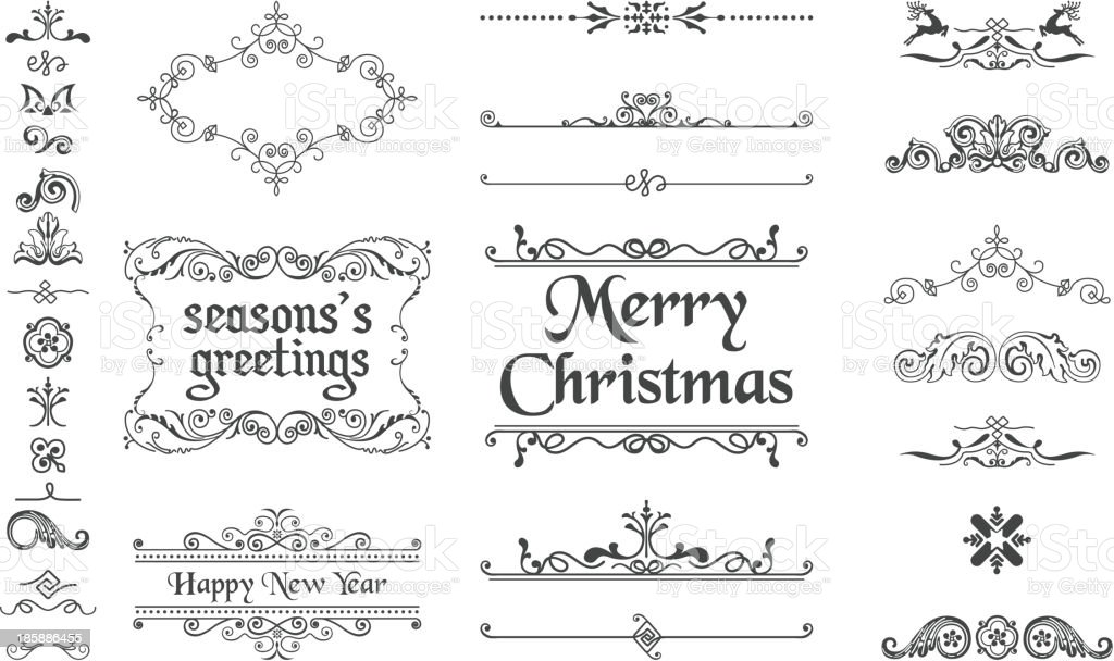Christmas Decoration Collection vector art illustration