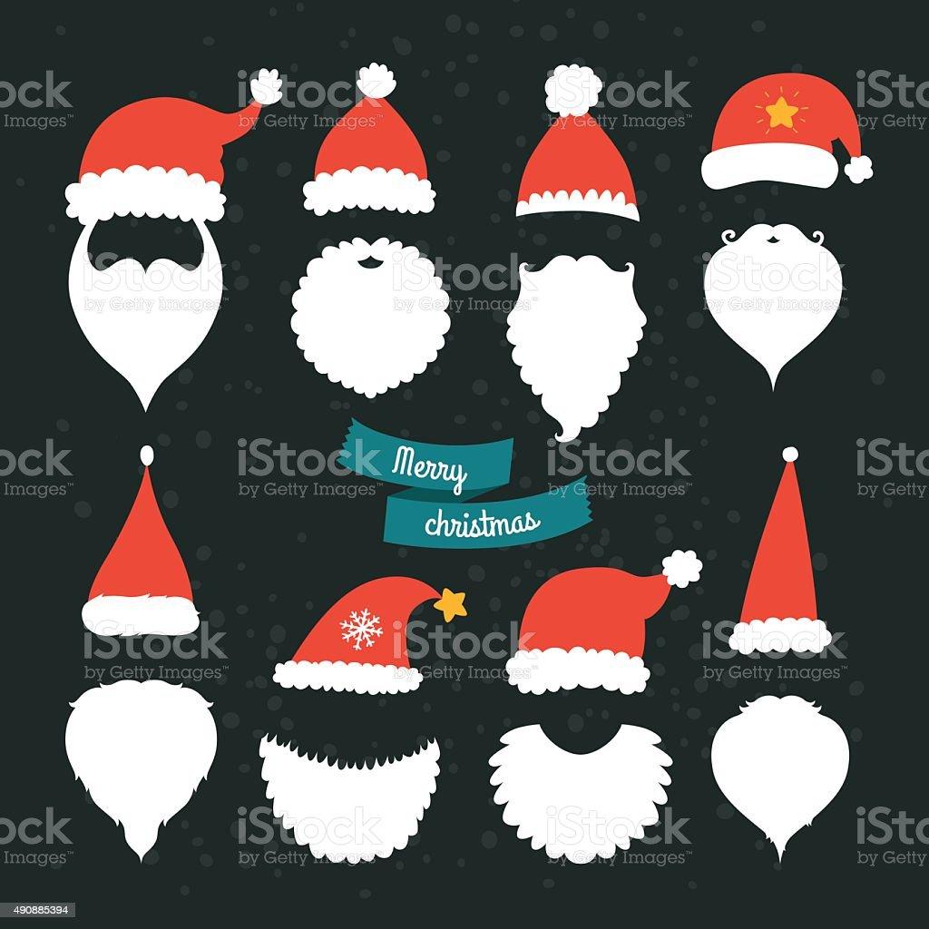Christmas Decoration collection vector art illustration