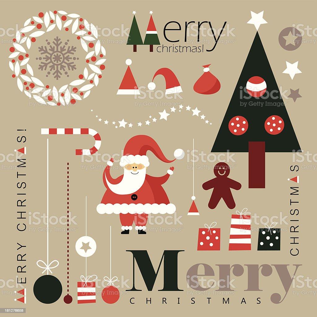 Christmas decoration elements royalty-free stock vector art