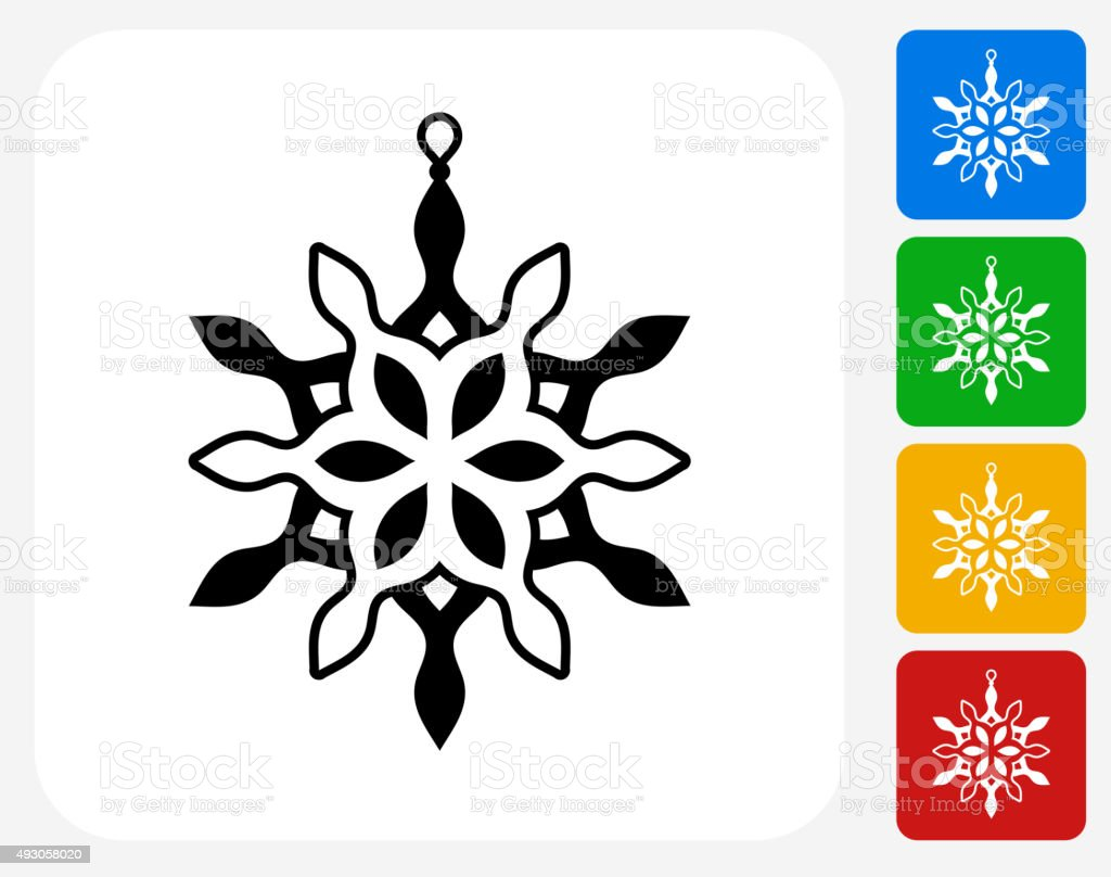 Christmas Decoration Icon Flat Graphic Design vector art illustration