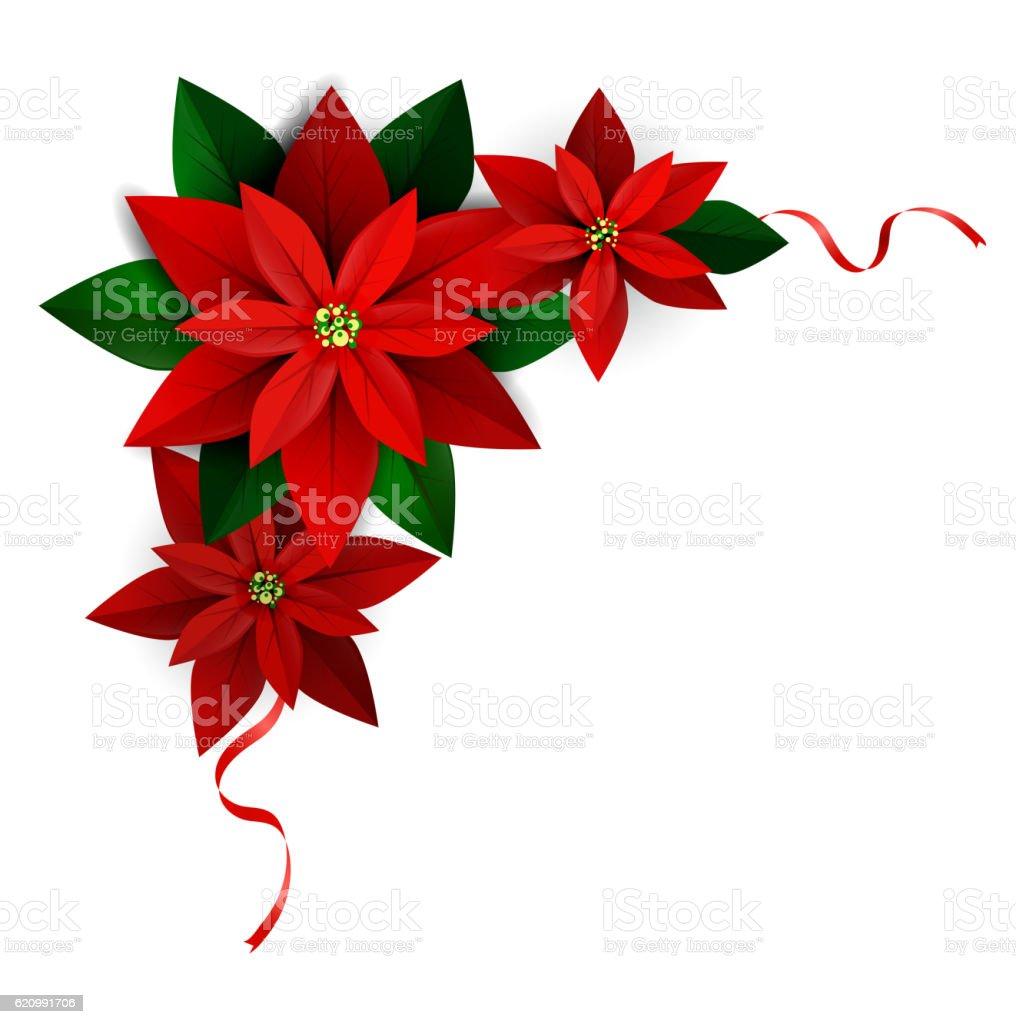 Christmas decoration on white vector art illustration
