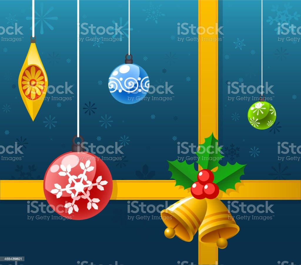 Christmas decoration ribbon royalty-free stock vector art