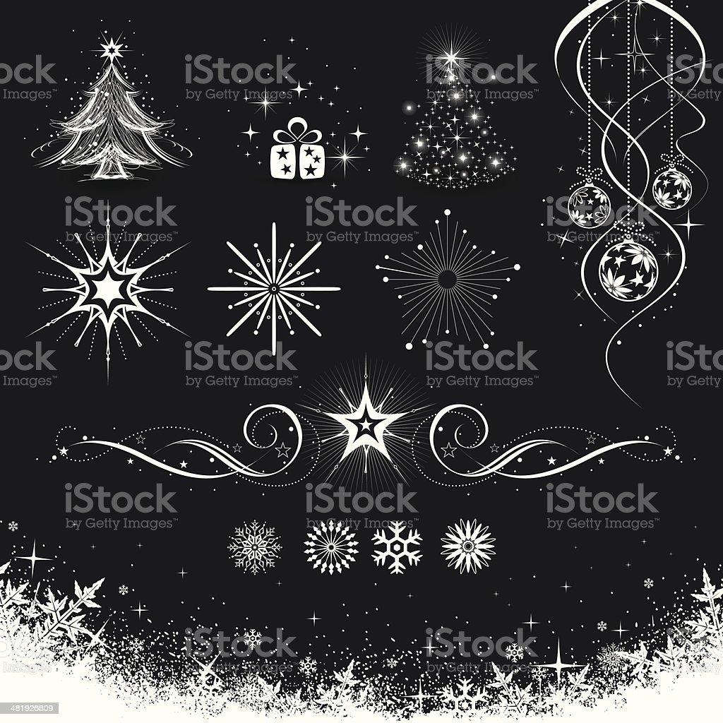 Christmas Decoration Set royalty-free stock vector art