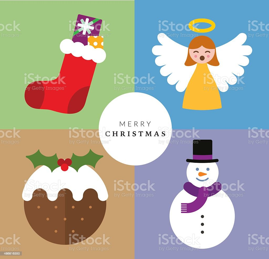 Christmas Decoration Set VI vector art illustration
