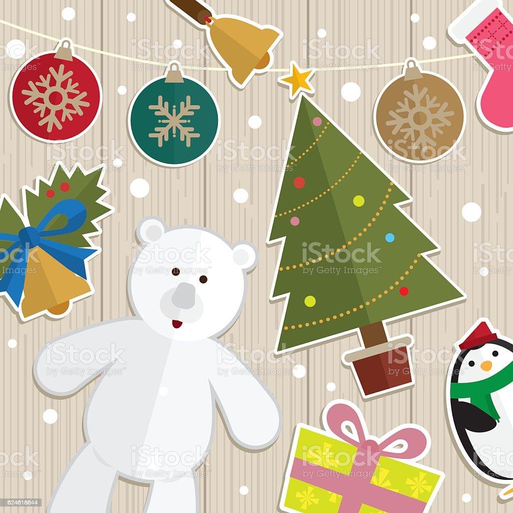 Polar Bears Clip Art Christmas Decorations