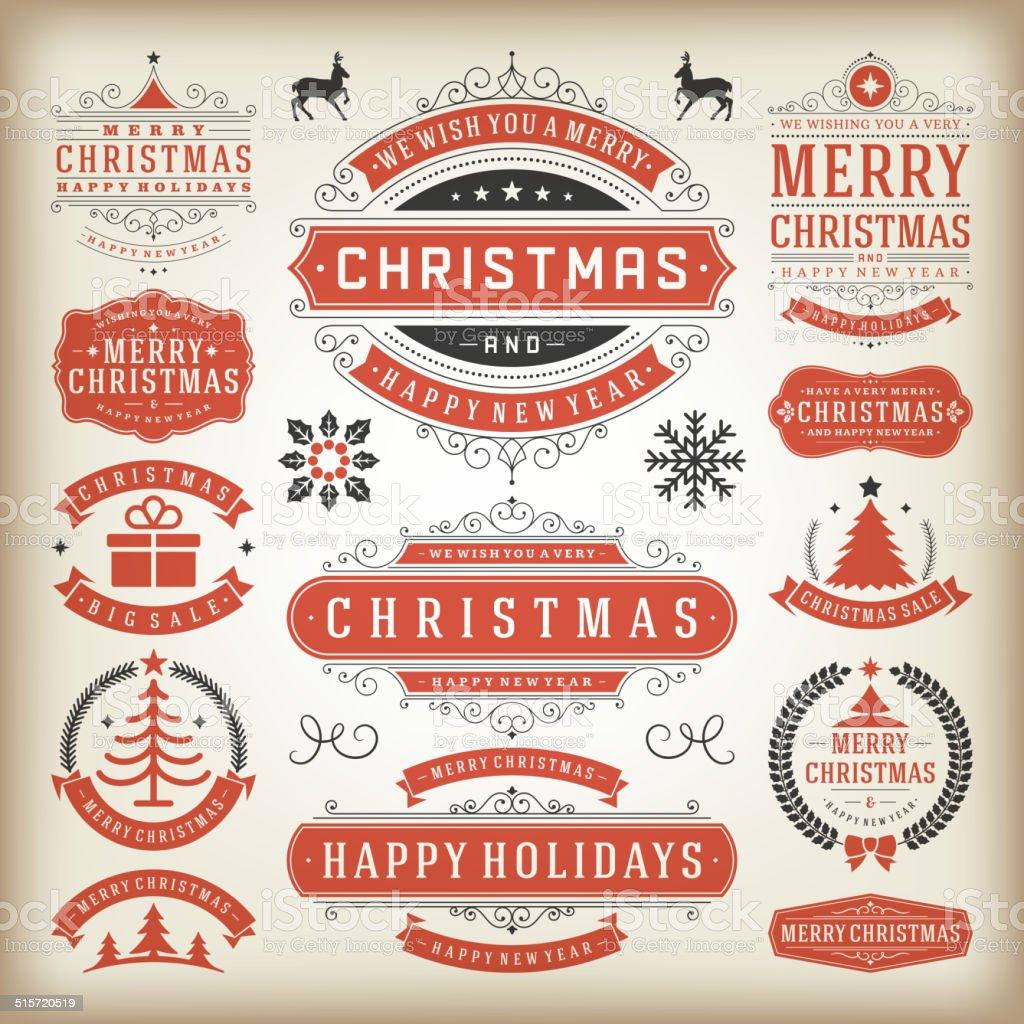 Christmas Decoration vector design elements vector art illustration