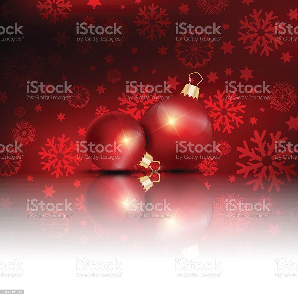 Christmas decorations background vector art illustration