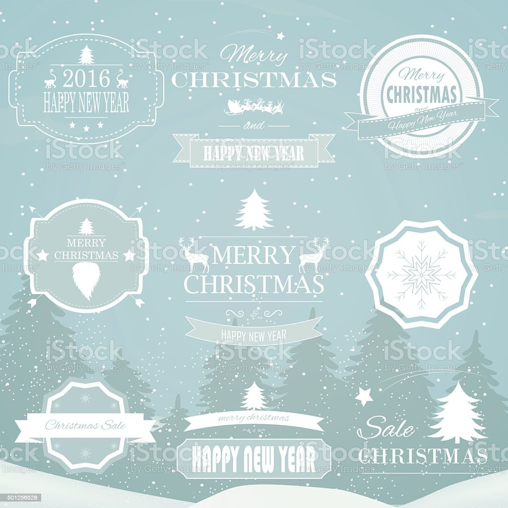 Christmas Decorations Vector Design Elements. royalty-free stock vector art