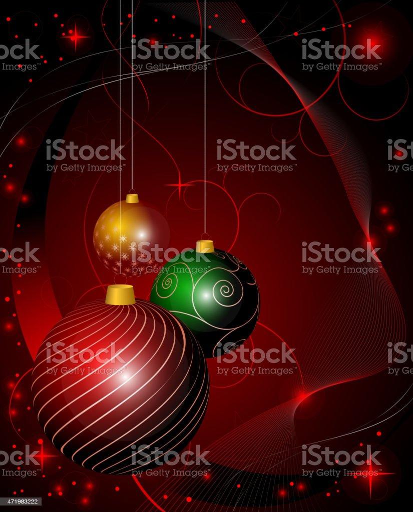 Fondo abstracto de Navidad decorativo illustracion libre de derechos libre de derechos