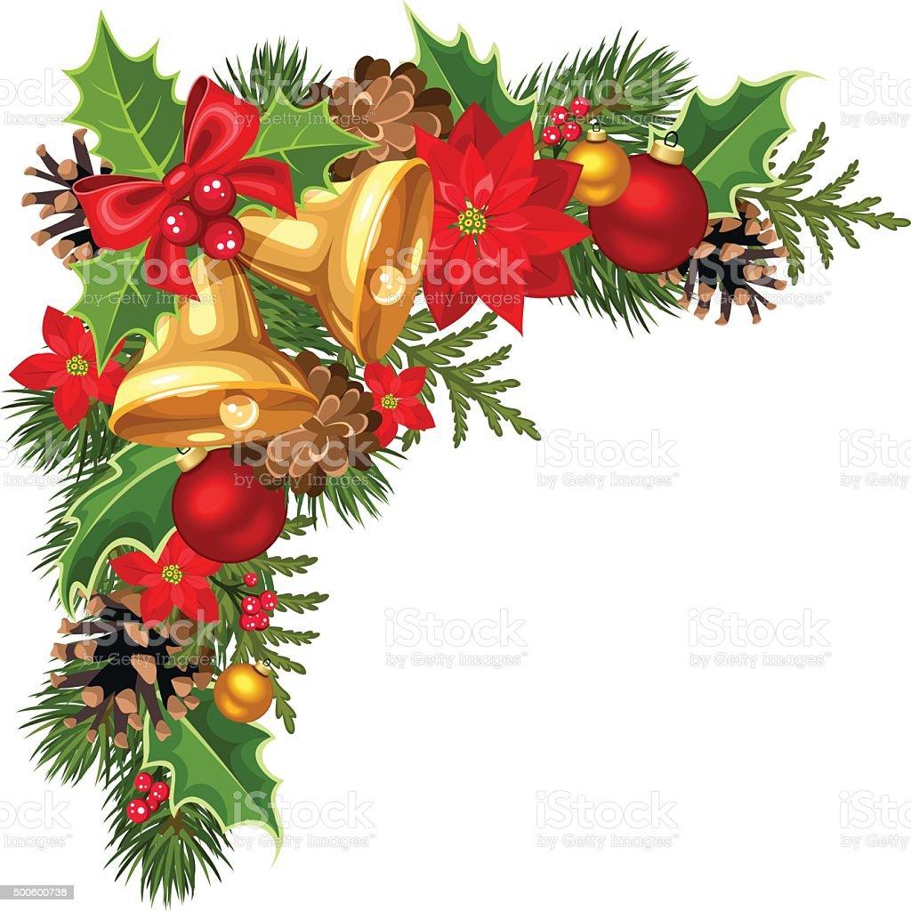 Cadeau De Noel Avec Des Branches D&#39-arbre De Sapin Et Des Boules De ...