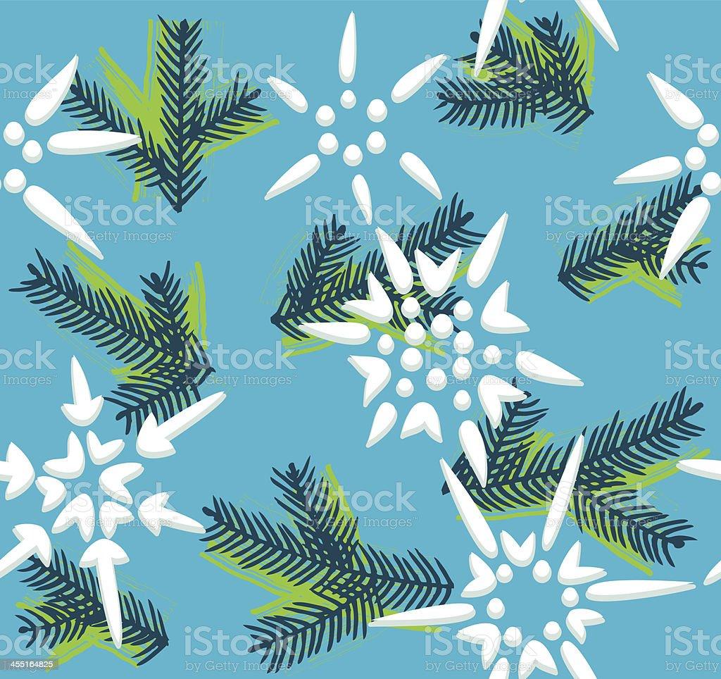 Christmas decorative seamless pattern royalty-free stock vector art