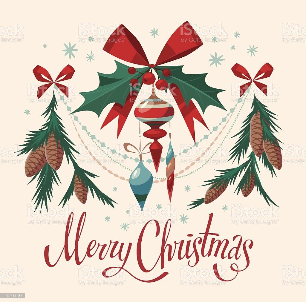 Christmas decotarions elements. vector art illustration