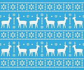 Christmas deer and snowflake pattern design