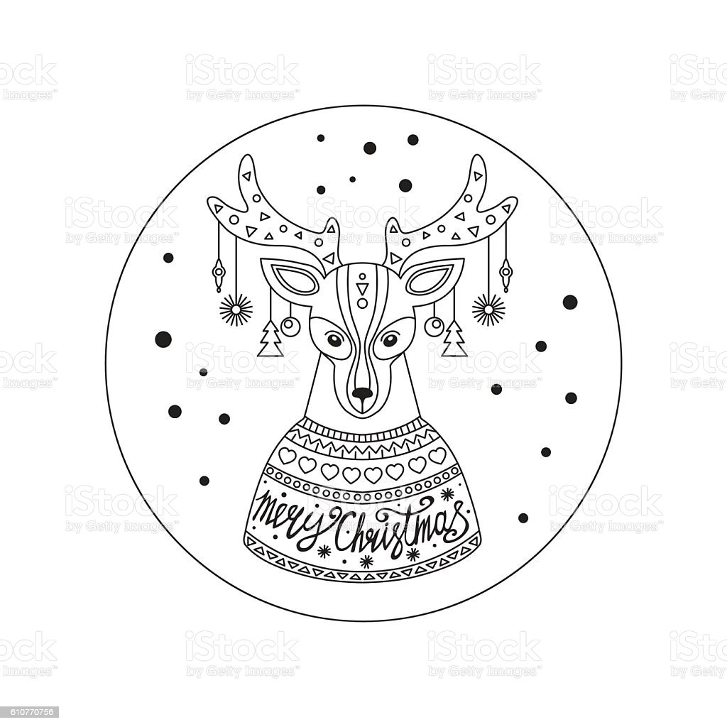 Christmas deer. royalty-free stock vector art