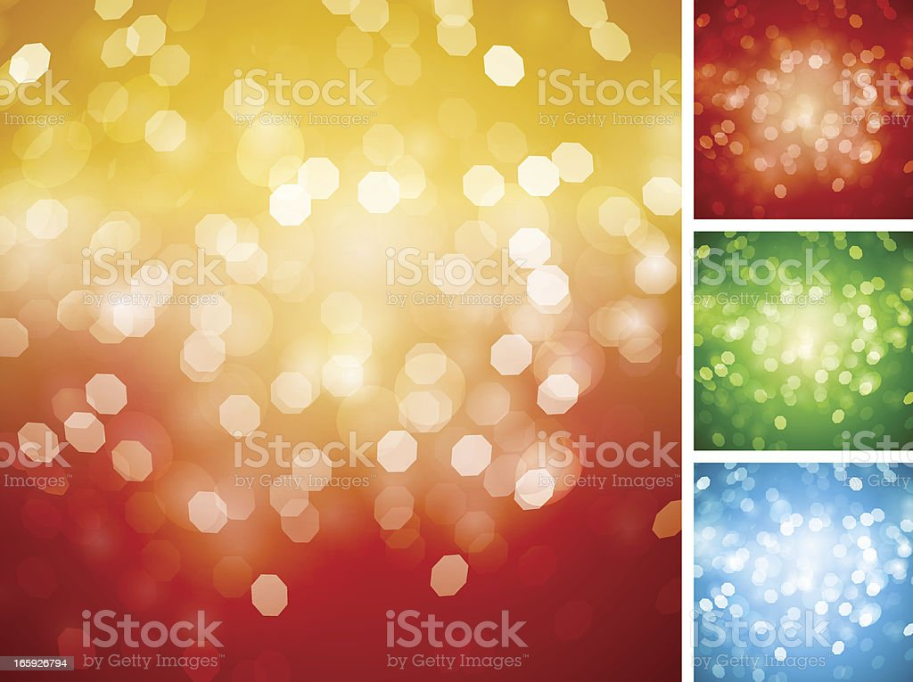 Christmas Defocused Lights Backgrounds royalty-free stock vector art