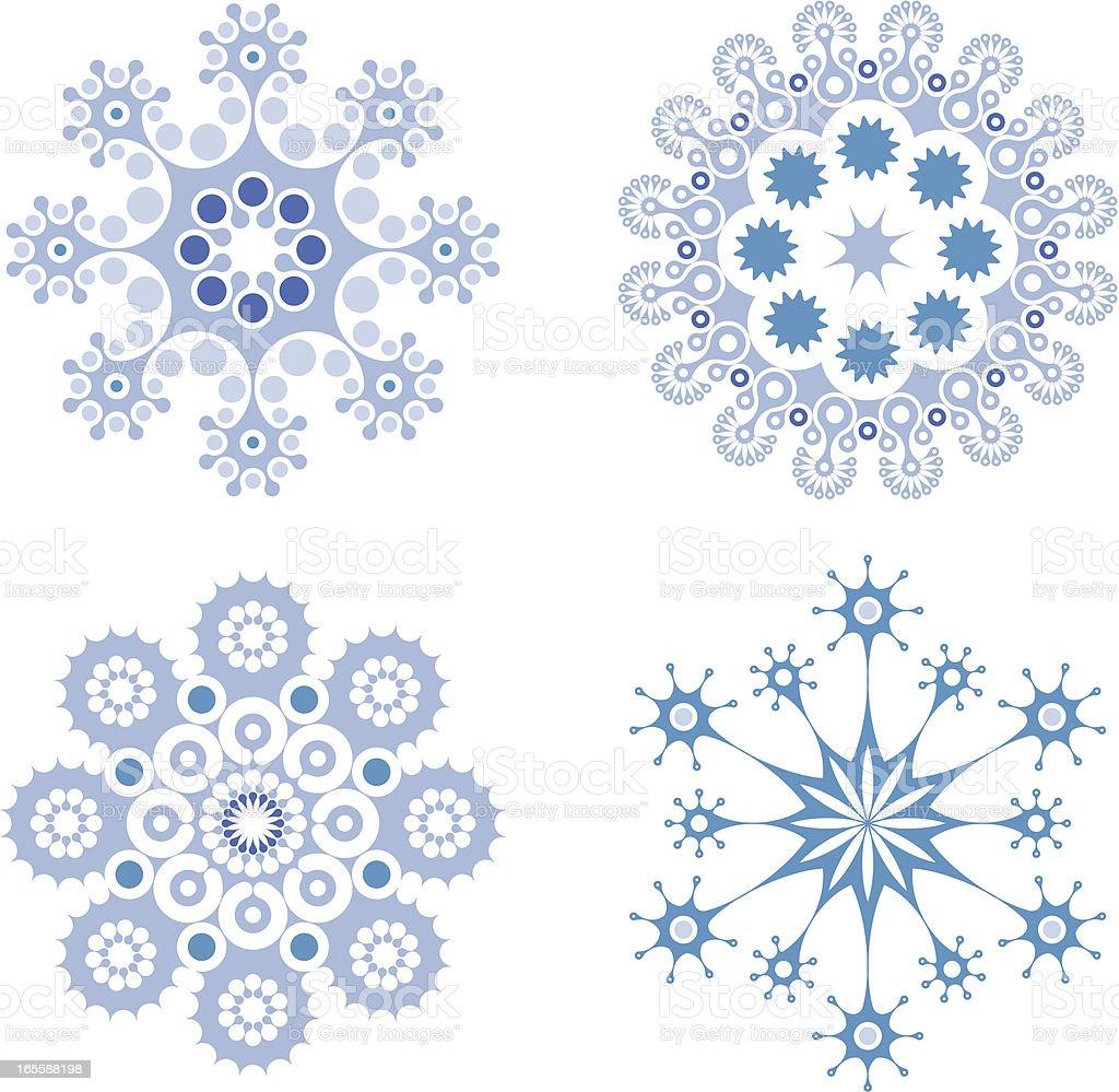 Christmas design elements, icons, symbols - star snowflake shapes royalty-free stock vector art