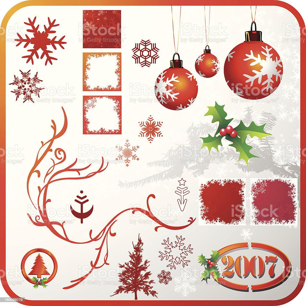 Christmas Design Elements Red royalty-free stock vector art