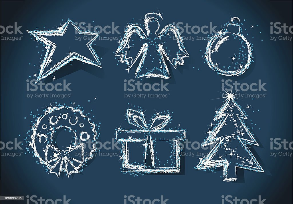 Christmas Design Elements. vector art illustration