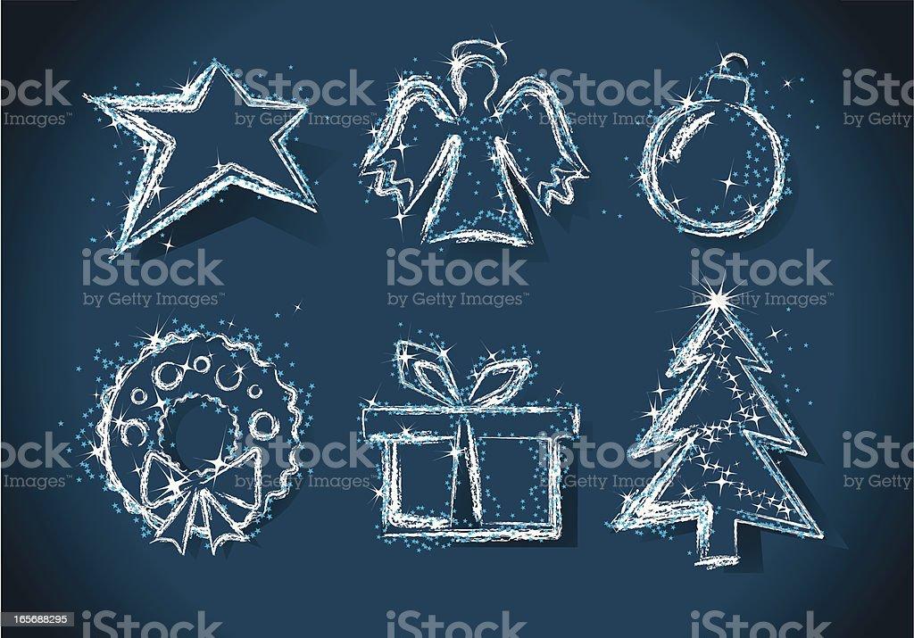 Christmas Design Elements. vector art illustration