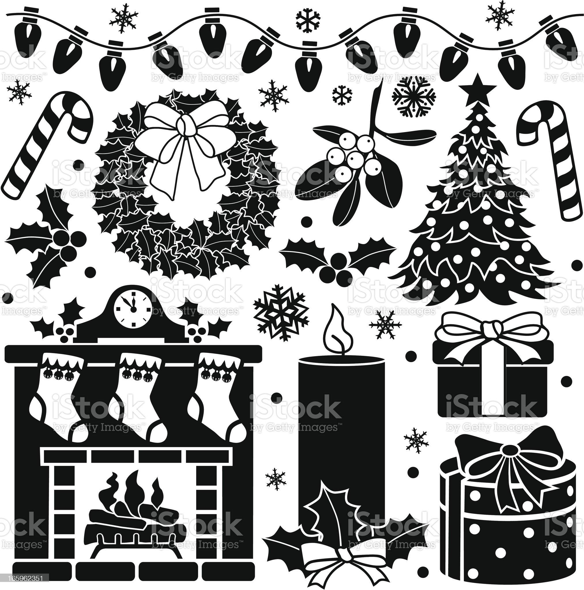 Christmas design elements royalty-free stock vector art