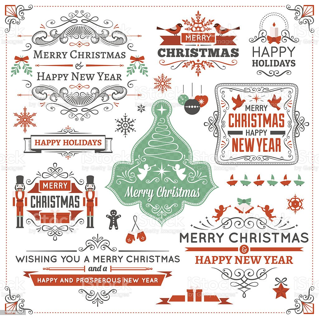 Christmas Design Elements vector art illustration