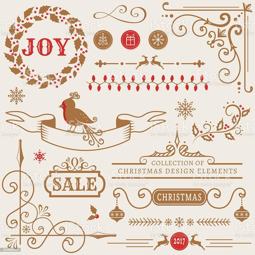Christmas design elements. Vector set. vector art illustration
