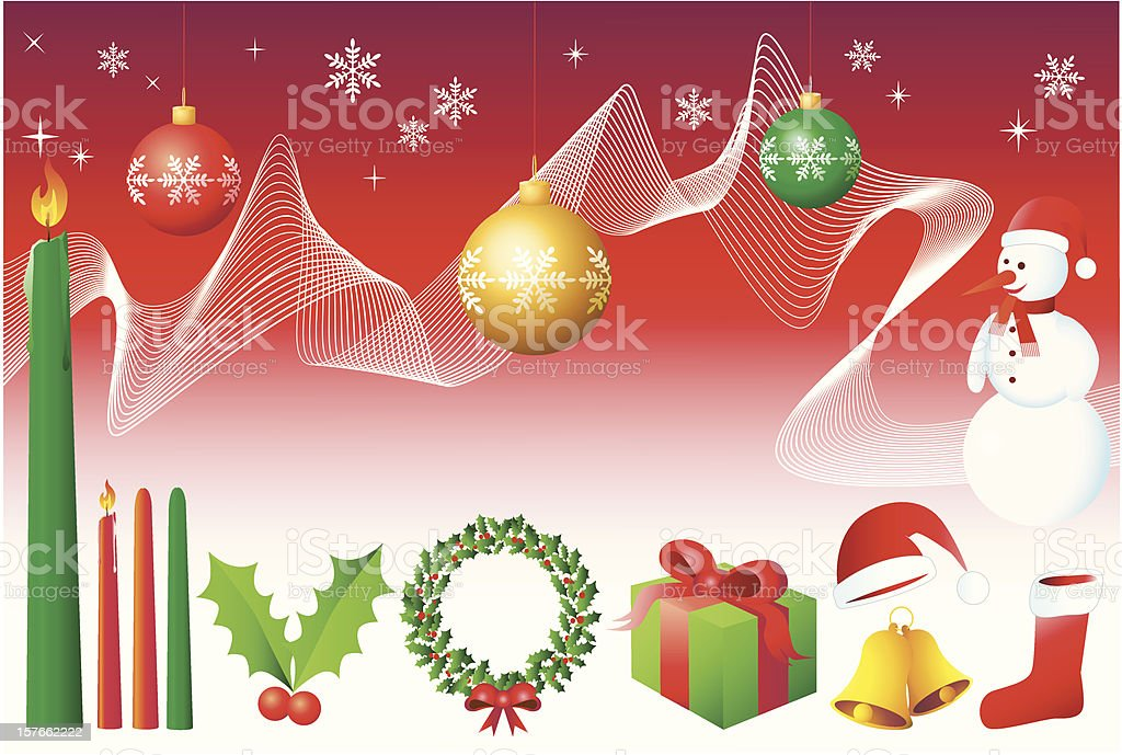 Christmas Design Elements - Vector vector art illustration